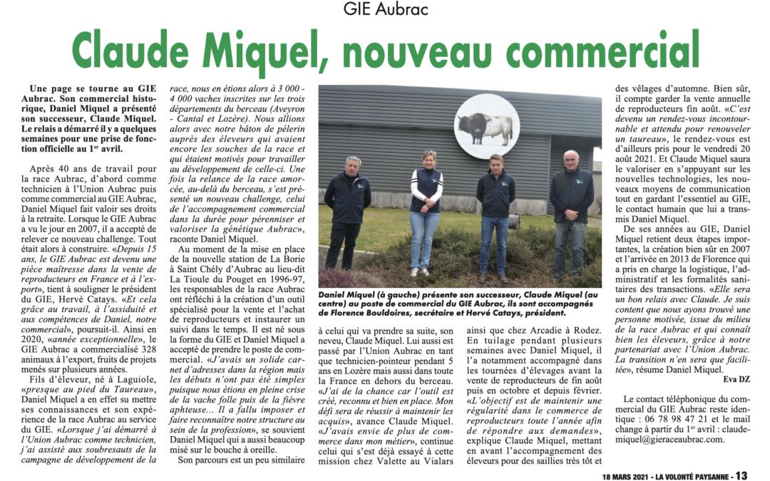 Article La Volonté Paysanne – 18 mars 2021